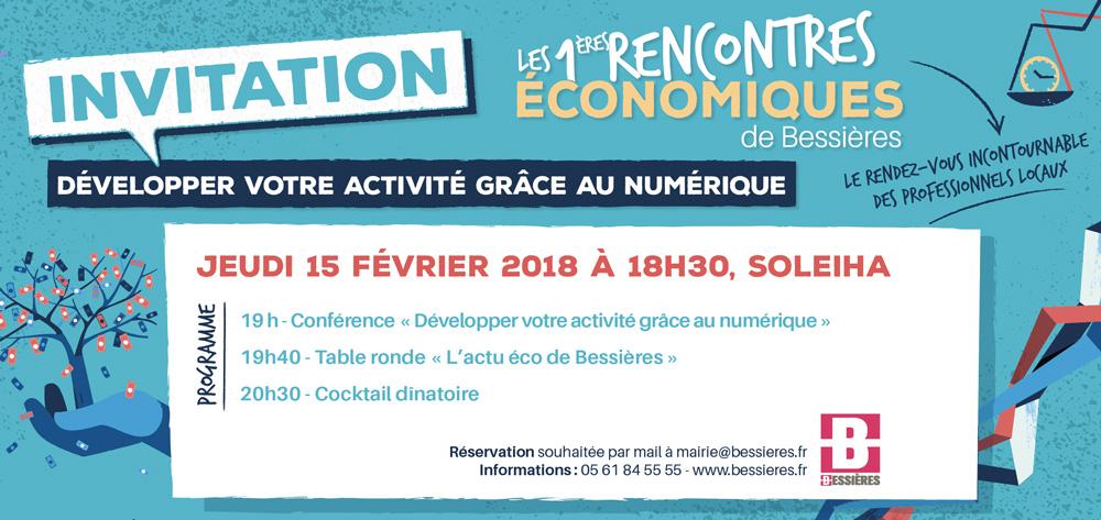 Les 1ère rencontres économiques de Bessières : 15 février à 18h30 à Soleiha