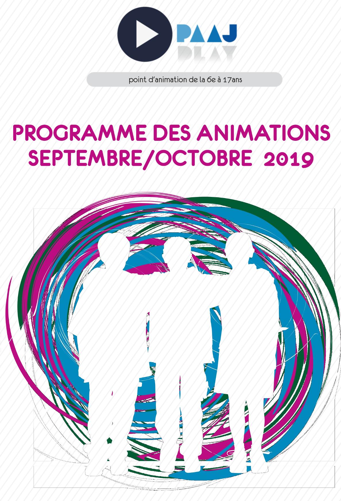 PAAJ – le  programme des animations de la rentrée 2019!