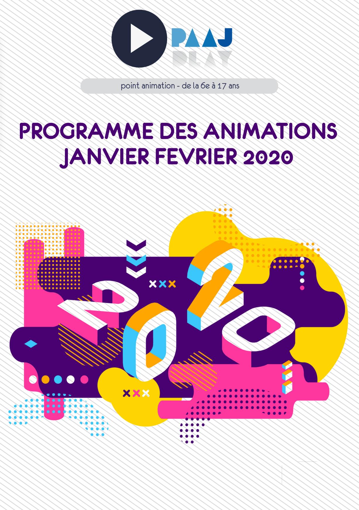 PAAJ – programme des animations de janvier-février 2020
