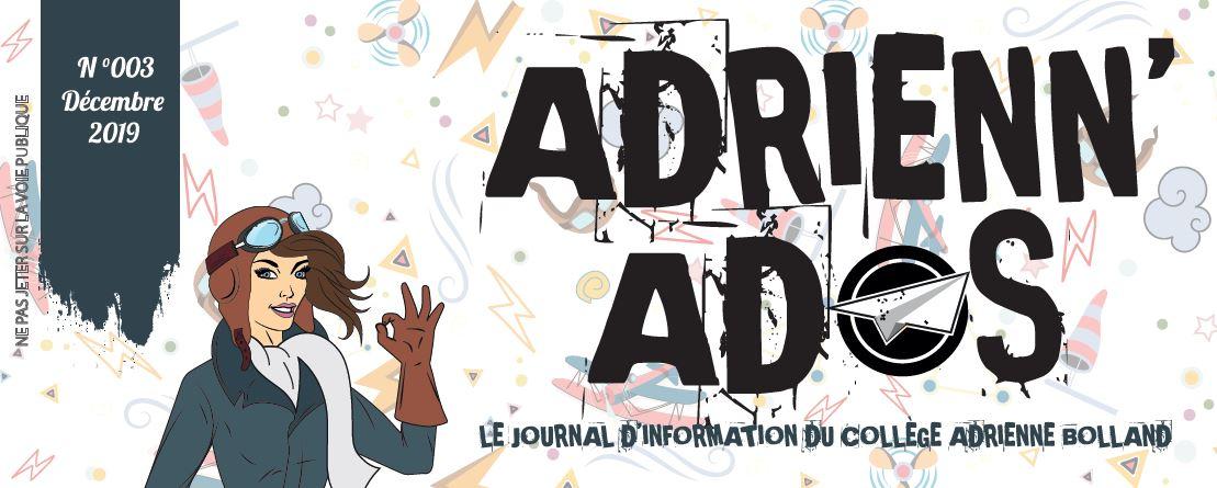 Le journal Adrienn'Ados n°3 est sorti!