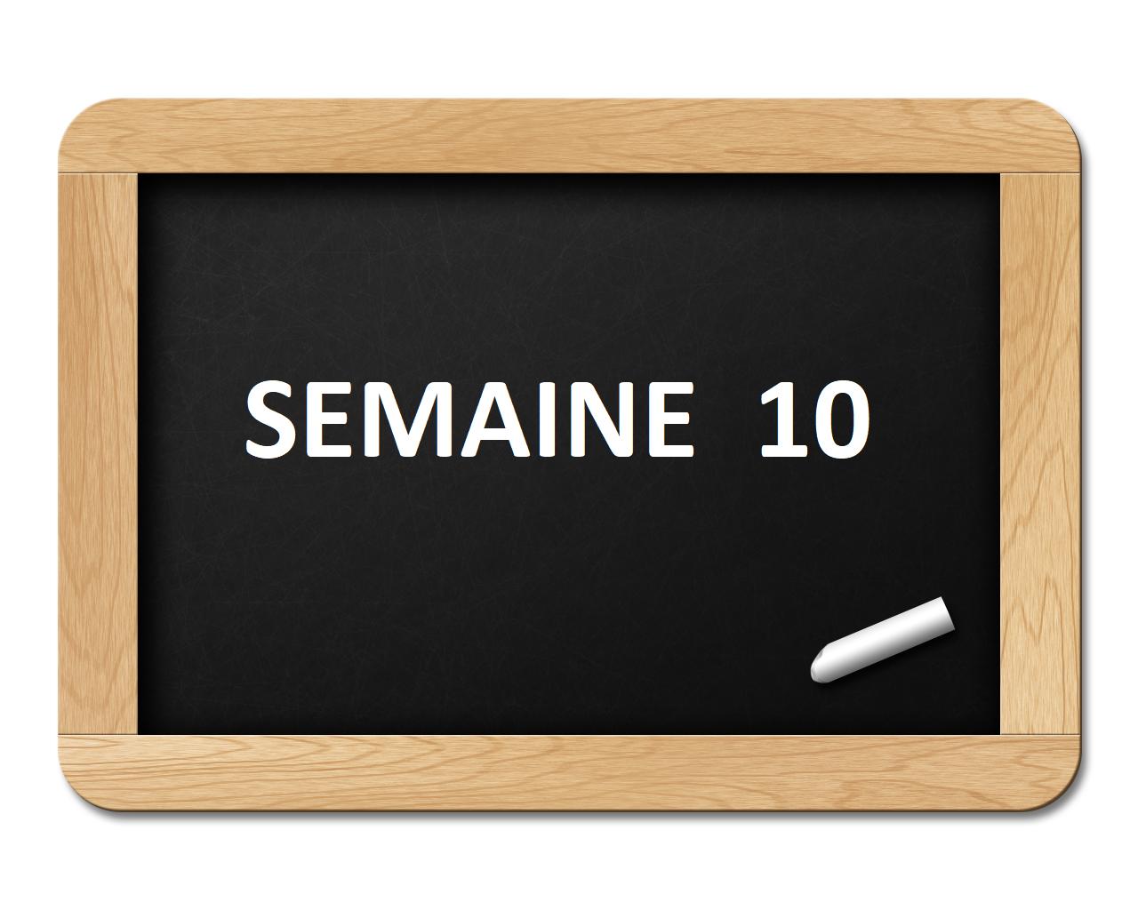 SEMAINE 10 2020