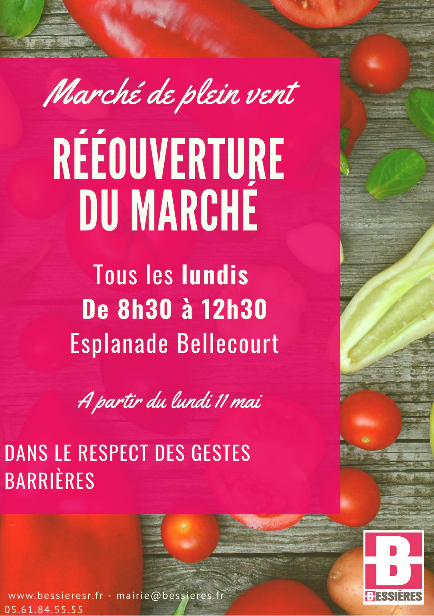 Réouverture du marché de plein vent à Bessières